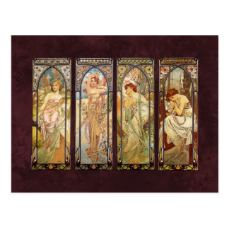 Alphonse Mucha, The Times des Tages Postkarte