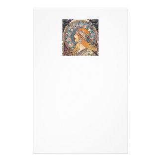 "Alphonse Mucha , ""Zodiac"" Briefpapier"