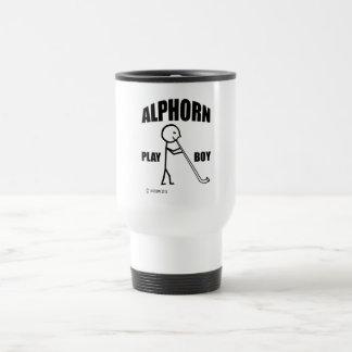 Alphorn Spiel-Junge Reisebecher