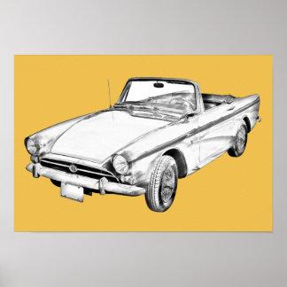 Alpine 5 Sport-Auto-Illustration Poster