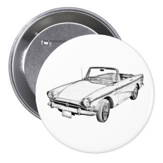 Alpine 5 Sport-Auto-Illustration Runder Button 7,6 Cm