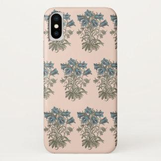 Alpine Bell-Blumen-botanische Illustration iPhone X Hülle