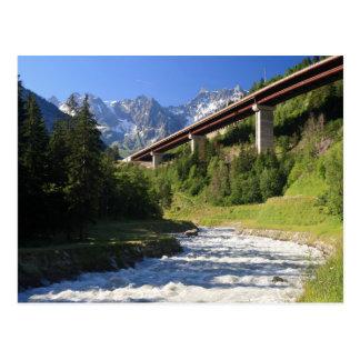 Alpine Landstraße Postkarte