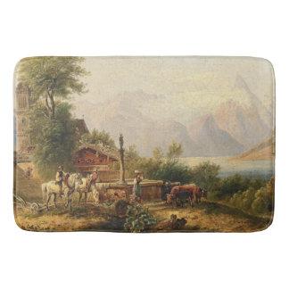 Alpine See-Hirten-Brunnen-Kuh-Pferdebad-Matte Badematte