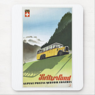 Alpiner Bus-Vintage Reise der Schweiz Mauspad