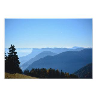 Alpiner Morgen-Nebel Fotodruck