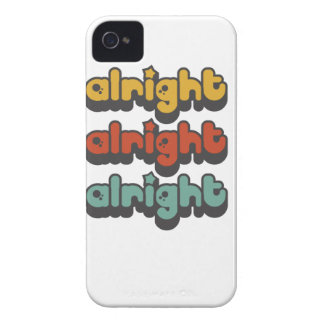 ALRIGHT-ALRIGHT-ALRIGHT-HIPPY-STAR iPhone 4 Case-Mate HÜLLE
