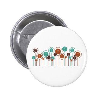 Als Barmixer arbeitende Gänseblümchen Button