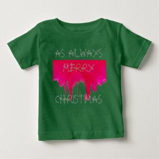 Als immer frohe Weihnacht-schöne Rote Rose Baby T-shirt