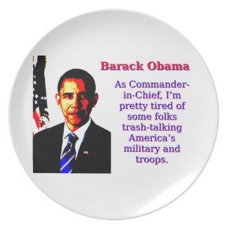 Als Kommandant - herein - Leiter - Barack Obama Melaminteller