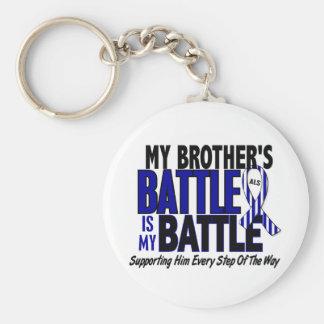 ALS mein Kampf zu 1 Bruder Standard Runder Schlüsselanhänger