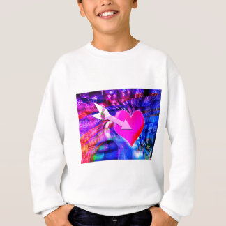 Als Musikpfeil Herz anvisierte Sweatshirt