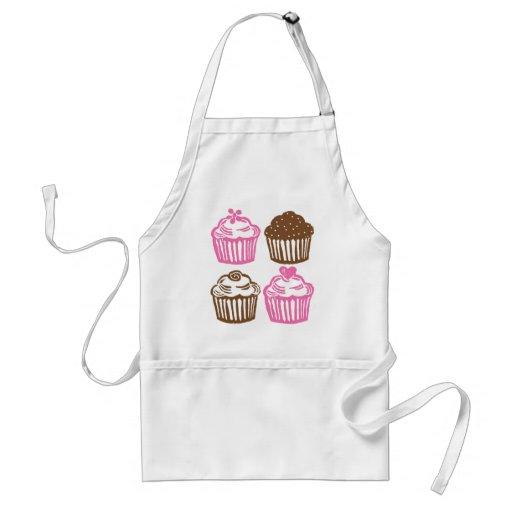 ALS Schürze-Rosa-kleine Kuchen