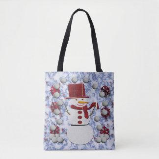 Alt-netter Schneemann Tasche