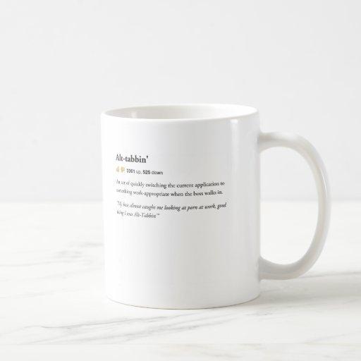Alt Tabbin - städtische Wörterbuch-Tasse Tasse