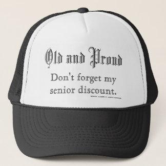 Alt und stolz, vergessen Sie nicht meinen älteren Truckerkappe