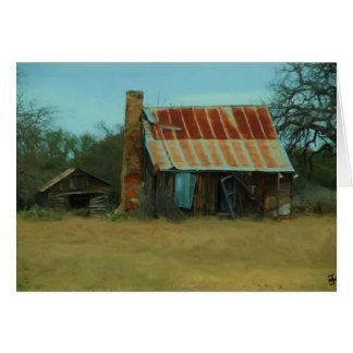 Alt und verlassen - Sonnenaufgang-Strand Texas Karte
