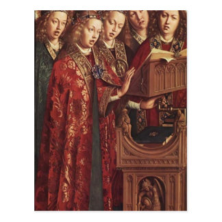 Altar Jan.s van Eyck- The Gent (Detail) Postkarte