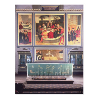 Altar mit einem darstellenden Triptychon Postkarten