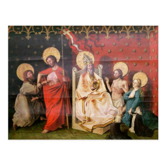 Altarpiece, der Christus mit St Thomas darstellt Postkarte
