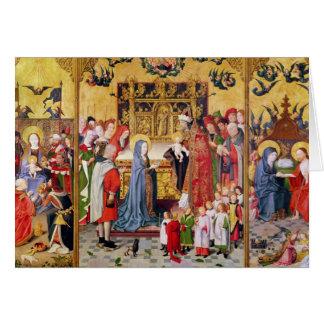 Altarpiece der sieben Freuden an der Jungfrau Grußkarte