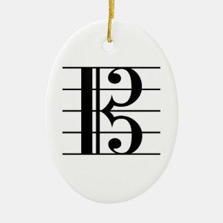 AltClef auf Personal Keramik Ornament