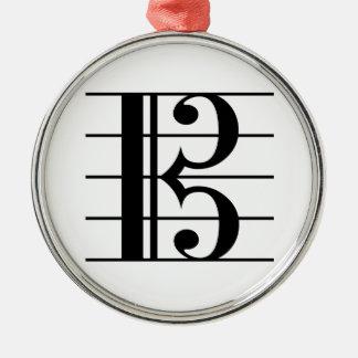 AltClef auf Personal Silbernes Ornament