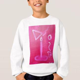 Alte abstrakte Kerze Sweatshirt