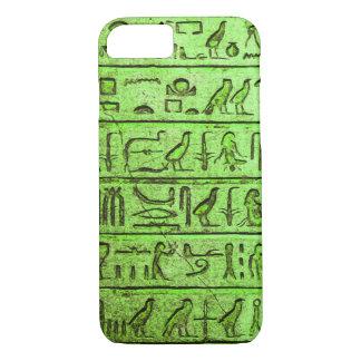 Alte ägyptische Hieroglyphen grüner iPhone Kasten iPhone 8/7 Hülle