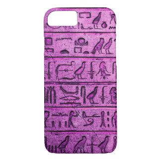 Alte ägyptische Hieroglyphen lila iPhone 7 Kasten iPhone 8/7 Hülle