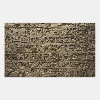 alte ägyptische Hieroglyphen Rechteckiger Aufkleber