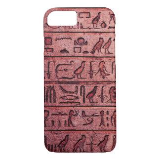 Alte ägyptische Hieroglyphen roter iPhone 7 Kasten iPhone 8/7 Hülle