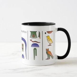 Alte ägyptische Hieroglyphen-Tasse Tasse