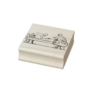 Alte ägyptische Illustrations-Kunst-Briefmarke der Gummistempel