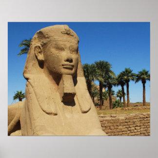 Alte ägyptische Sphinxstatue Luxor Ägypten Poster
