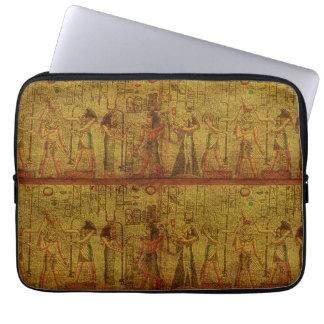 Alte ägyptische Tempel-Wand-Kunst Laptop Sleeve