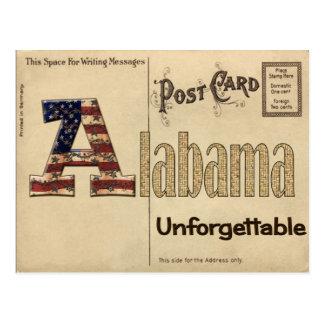 Alte Alabama-Postkarte Postkarte