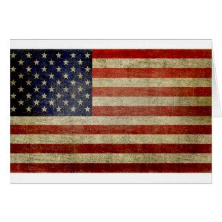 Alte amerikanische Flagge Karte