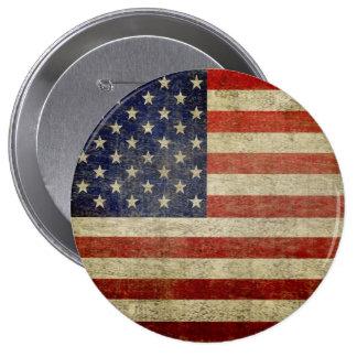 Alte amerikanische Flagge Runder Button 10,2 Cm