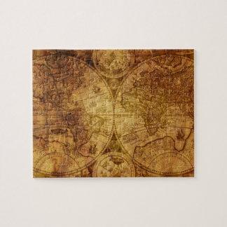 Alte antike Weltkarte historisch Puzzle