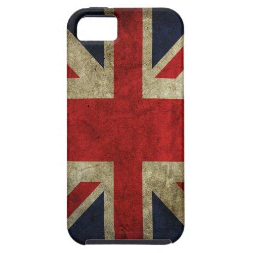 Alte Antiken-BRITISCHE britische Gewerkschafts-Jac Etui Fürs iPhone 5