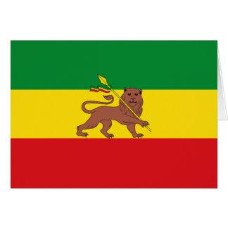Alte äthiopische Flagge Karte