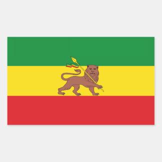 Alte äthiopische Flagge Rechteckiger Aufkleber