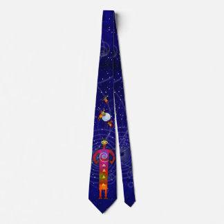 Alte aufsteigende Astro alien-Engel Individuelle Krawatten