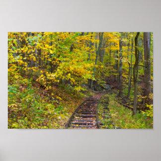 Alte Bahnstrecken, Blueridge Allee, Virginia Poster