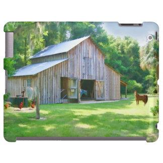 Alte Bauernhof-Scheune mit Tieren iPad Hülle