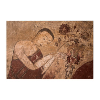 Alte buddhistische Malerei Acryldruck