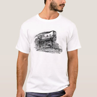 Alte Dampf-Lokomotive T-Shirt