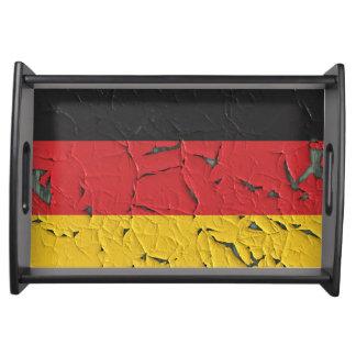 Alte Deutschland-Flagge Serviertablett