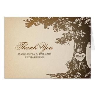 alte Eichenhochzeit danken Ihnen Karten